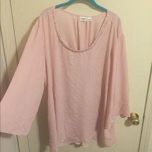 Super cute Cato pink long sleeve blouse size 22/24